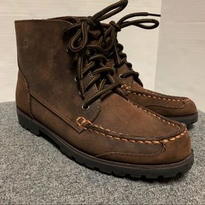 Bass Brown Leather Lace Up Moccasin Boot 6